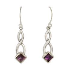 Twist Earrings in Amethyst