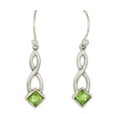 Twist Earrings in Peridot