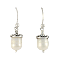 Acorn Earrings in Sterling Silver