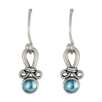 Faro Earrings in Swiss Blue Topaz