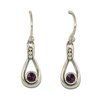 Droplet Earrings in Amethyst