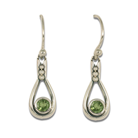 Droplet Earrings in Peridot