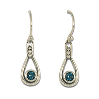 Droplet Earrings in London Blue Topaz