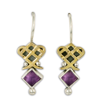Royal Earrings in Amethyst