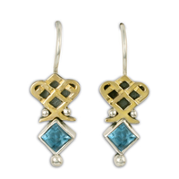 Royal Earrings in Swiss Blue Topaz