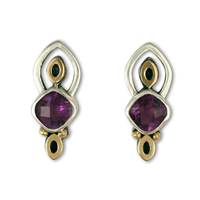 Aladdin Earrings in Amethyst