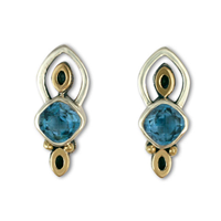 Aladdin Earrings in Swiss Blue Topaz