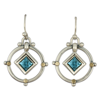 Petey Earrings in Swiss Blue Topaz