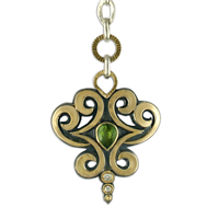 One of a Kind Mistral Pendant in 14K Yellow Gold Design w Sterling Silver Base