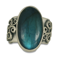 One of a Kind Labradorite Origin Ring in Sterling Silver
