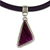 One of a Kind Sugilite Necklace in Sterling Silver