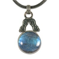 One of a Kind Triscali Labradorite Necklace in Sterling Silver