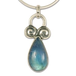 One of a Kind Moonstone Annalee Pendant in Sterling Silver