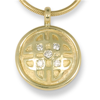 One of a Kind Interlace Pendant with Lab Grown Diamonds in 18K Yellow Gold