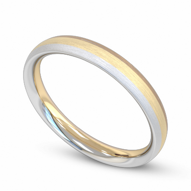 Fairtrade Gold Three Color Women s Wedding Ring in 18K White Fairtrade Gold and Rose Fairtrade Gold and Yellow Fairtrade Gold