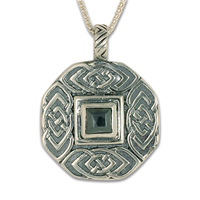 Skyler Pendant with Gem in Sterling Silver