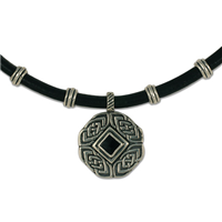 Skyler Medalion Necklace in Sterling Silver