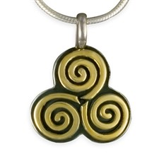 Driscol Pendant in 14K Yellow Design/Sterling Base