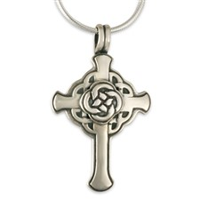 Interlace Sita Cross  in Sterling Silver