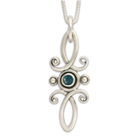 Viola Pendant in London Blue Topaz
