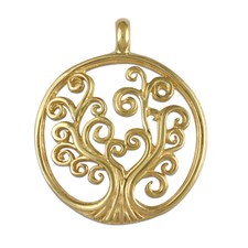 Tree of Life Pendant Small in 14K Yellow Gold