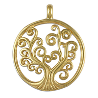 Tree of Life Pendant 18K Small in 18K Yellow Gold
