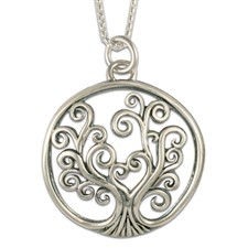 Tree of Life Pendant Small in Sterling Silver