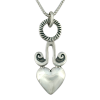 Angelica Heart Pendant in Sterling Silver