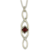 Twist Pendant Long in Sterling Silver