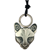 Mountain Lion Pendant in Sterling Silver