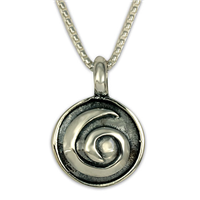 Swirl Pendant in Sterling Silver