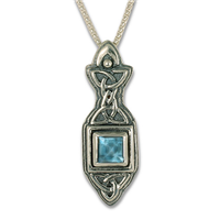 Aedan Pendant in Swiss Blue Topaz