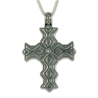 Marney Cross Pendant in Sterling Silver