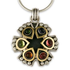 Lotus Mandala Pendant in Multi Color