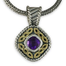 Athena Pendant in Amethyst