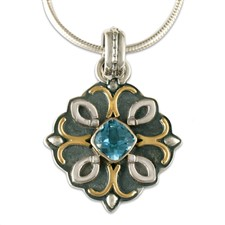Brigid Pendant  in Swiss Blue Topaz