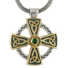 Grant s Cross  in 14K Yellow Gold Design w Sterling Silver Base