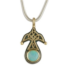 Swallow Pendant with Opal Small in Opal