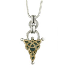 Zena Pendant in 14K Yellow Design/Sterling Base