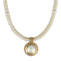 Lunita Pearl Necklace in Pearl