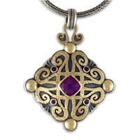 Shonifico Pendant with Gems in Amethyst