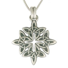 Celtic Star Pendant in Sterling Silver