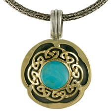 Helios Wave Pendant  in Turquoise