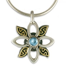 Silva Pendant in Swiss Blue Topaz
