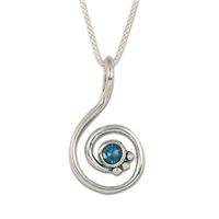Celada Pendant with Gem in Swiss Blue Topaz