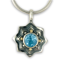 Sunrope Pendant in Swiss Blue Topaz