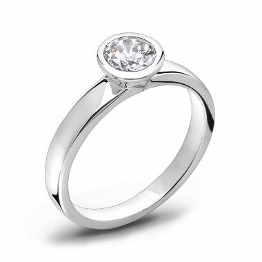 Brilliant Cut Canadian Diamond Fairtrade Gold Engagement Ring in 18K White Gold