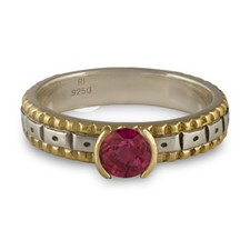 Solaris Engagement Ring in Ruby