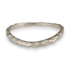 Corona Reale Curvy Ring in 14K White Gold