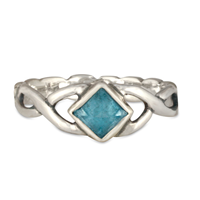 Twisted Ring in Swiss Blue Topaz